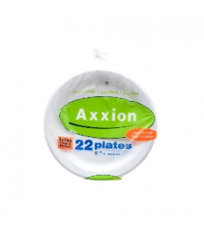 "Axxion Foam Plate 8 7/8"",  22 count"