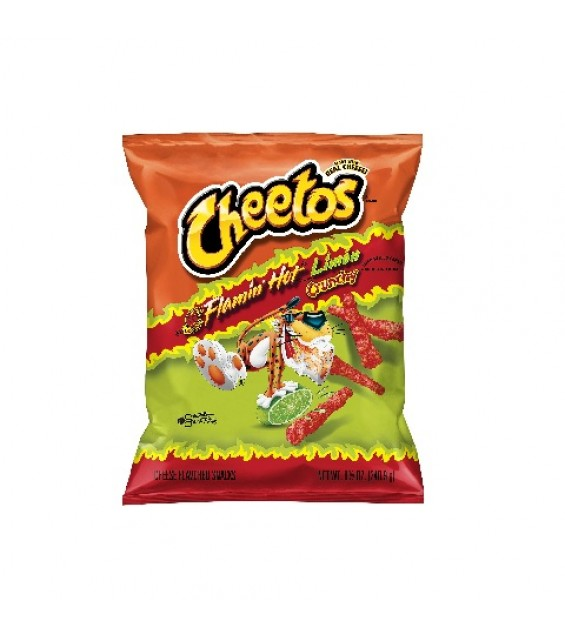 Cheetos Crunchy Flamin' Hot Limon 8 1/2 oz (240.9 g)