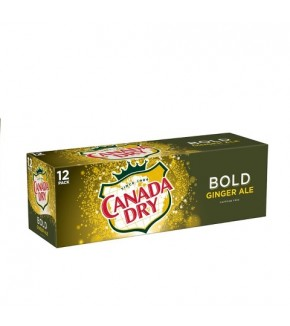 Canada Dry Ginger Ale, Bold, 12 Pack