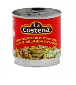 La Costena Green Pickled Sliced Jalapeno Peppers 12oz